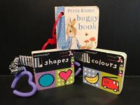 Three Baby Buggy Books including Peter Rabbit