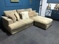 Next cream fabric corner sofa