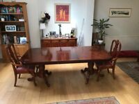Dining Table (large) - very solid and stable, bought from Harrods 30 years ago