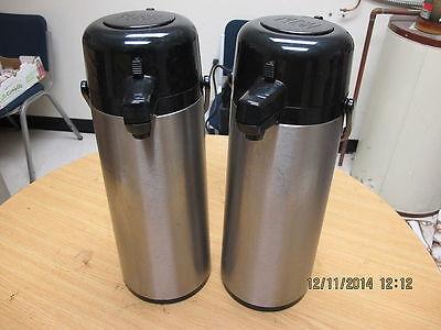 Lot Of 2 Service Ideas 2.5 Liter Push Button Airpot Vacuum Insulated Airpot