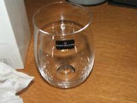 GIFT? 2 Dartington crystal wine tumblers, boxed, new