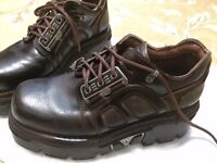 New Rock Boots men size 8 Brown