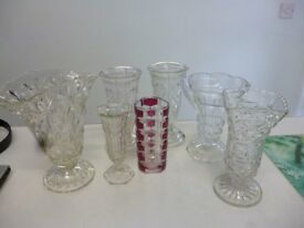 glass vase collection.