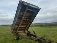 Weeks Tractor tipping trailer steel floor and internal sides farm stables logs