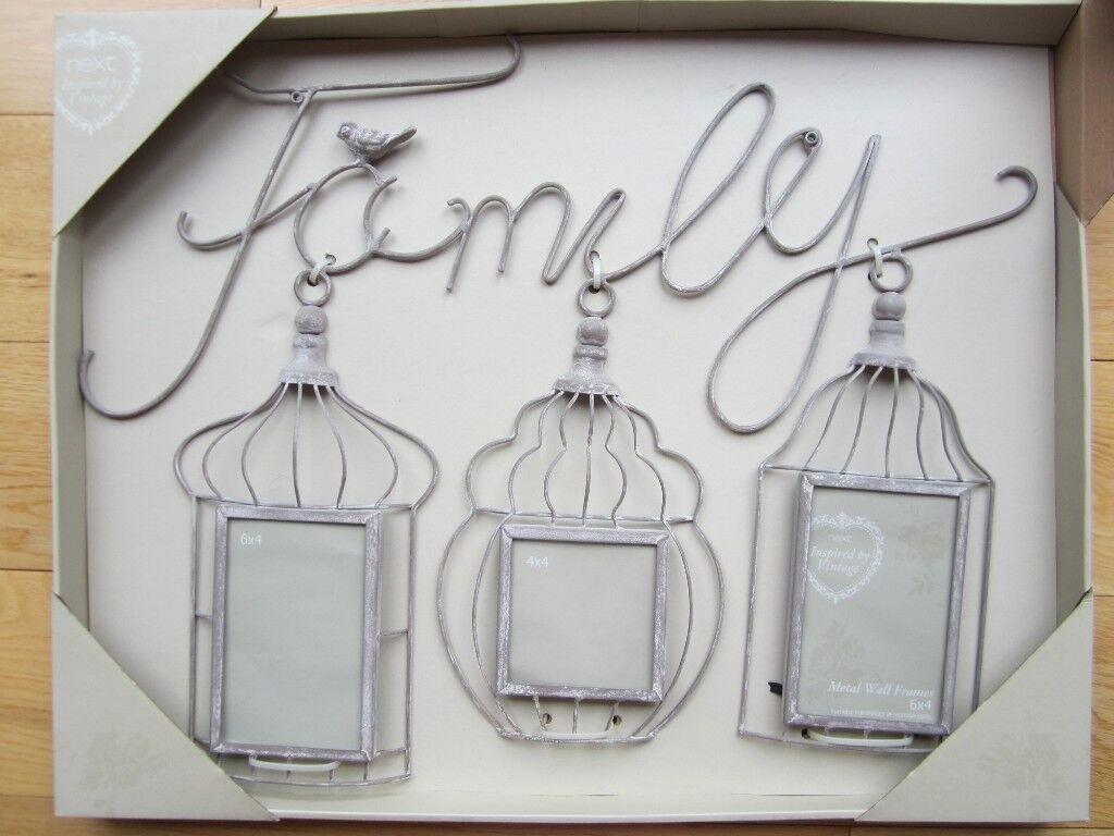 NEXT VINTAGE \'FAMILY\' COLLAGE FRAME ~ BIRDCAGE DESIGN ~ 2 X 6X4 & 1 ...