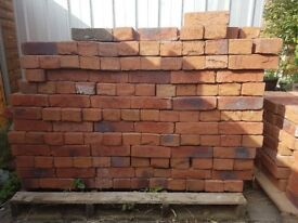 New Red hand made bricks