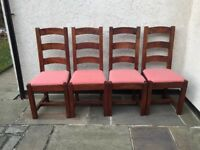 BARKER STONEHOUSE 4x DINING CHAIRS SOLID WOOD HIGH QUALITY PICK UP Bramhope, LS16