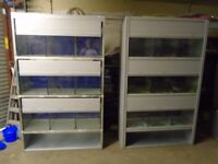 For sale Casco unit fish tanks / tank with lights