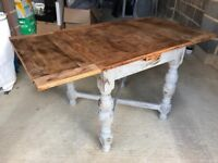 Upcycled Solid Wood Dining Table