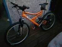 Hellcat carrera full suspension pushbike