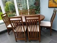 Almost new dining set with extending table