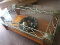 STERLING COFFEE TABLE & PAIR OF SIDE TABLES