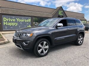 2016 Jeep Grand Cherokee Limited / SUNROOF / LEATHER / 20  CARBO