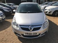 VAUXHALL CORSA 1.2 i 16v CLUB HATCH 3DR 2008(58)* IDEAL FIRST CAR* CHEAP INSURANCE* EXCELLENT COND