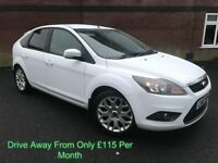 FORD FOCUS 1.6 TDCI 110 BHP ZETEC UPGRADE ALLOYS PRIVACY FOGS FINANCE AVAILABLE MAY PART EX £30 TAX