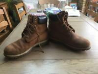 Timberland brown suede boots