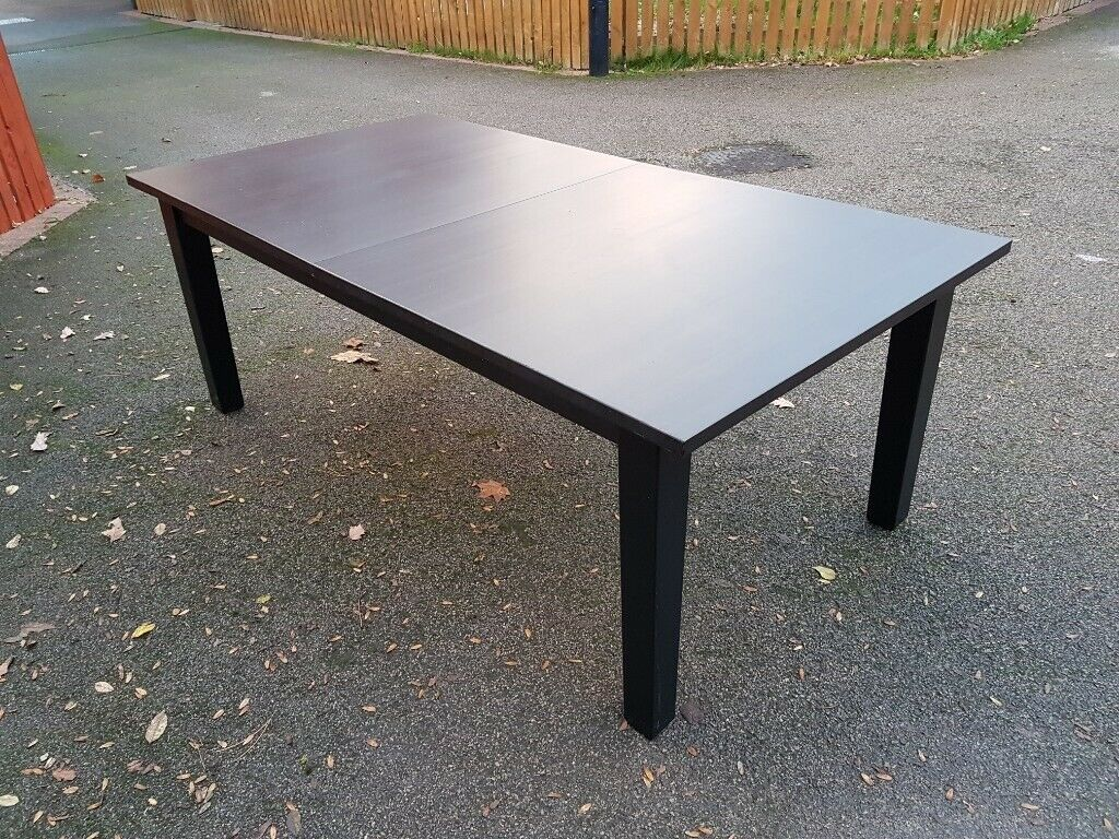 Large ikea black stornas extending table free delivery 321