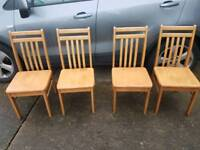 Dining chairs wooden shabby chic