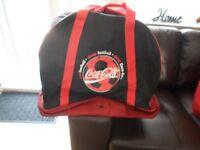 LARGE COCA COLA FOOTBALL KIT BAG.