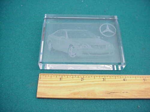 Mercedes Benz glass square paper weight preown