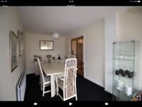 6 seater dining table(extendable) + 6 chairs(2 carvers) + matching sideboard. G-Plan cream ash.