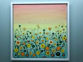 Funky floral art