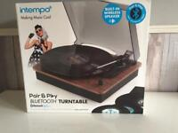 Intempo Pair and Play Bluetooth Turntable, Brand New