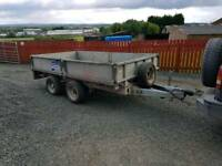 Ifor williams 10x5.6 drop side trailer with chequered floor