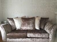 Lovely sofas for sale crushed velvet!!