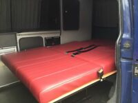 Rock and roll bed with cushions and seat belts not m1 tested