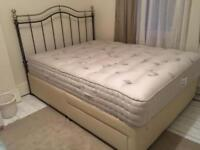 King Size bed with mattress , headboard and base