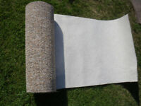 **UNUSED** piece of CARPET [hardwearing type, felt-back]