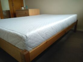 Foam mattress and Wooden Bed Frame Small Double