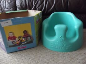 BLUE BUMBO SEAT - BABY FEEDING SEAT - FROM APPROX. 4 MONTHS TO 10KG