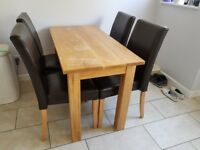 4 chairs and table, good condition