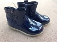 Girls Bluezoo navy ankle boots (NEW)