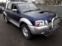 2004 04 NISSAN NAVARA 2.5 DIESEL**LOADS OF CHROME EXTRA`S**LOW MILEAGE**FULL MOT**CLIMATE CONTROL**