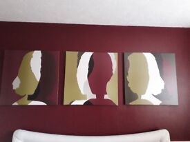 3 x IKEA CANVASES