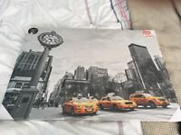 New York canvas yellow taxi