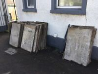 Used 3 by 2 paving flags £2 each 100+ flags