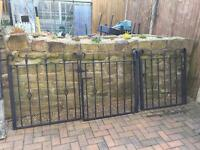 Heavy gauge wrought iron gates. £50.00