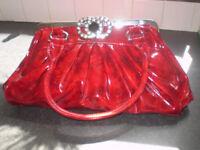 Beautiful Peach Red Handbag