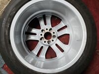 Mercedes wheel and tyre