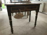 Painted shabby chic console table hallway furniture