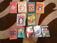 10 Jacqueline Wilson books and one Cathy Cassidy book