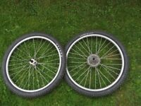 Mavic X138 26 Inch Mountain Bike Wheels 8 Speed Cassette