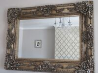 "BEAUTIFUL ELLA ORNATE LARGE RECTANGULAR WALL MIRROR 47"" X 35"""