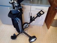 Golf clubs mens and trolley