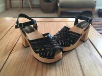 Brand New Swedish Hasbeens Sandals, Size 5