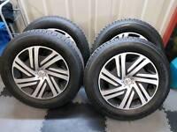 Brand new tyres and hubs off citreon berlingo van..